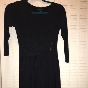 Chaps petite women black dress